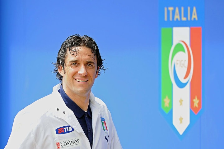 Italy's striker Luca Toni is pictured at
