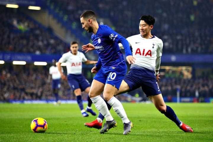 Hazard vs Son en Premier League