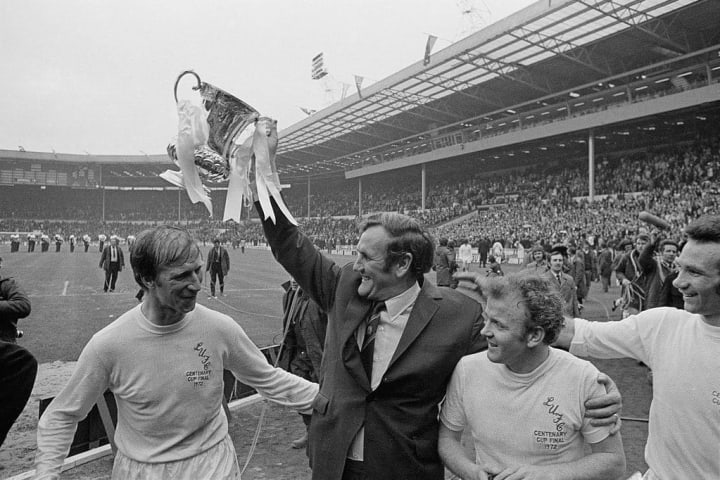 Paul Reaney, Don Revie, Jack Charlton, Billy Bremner