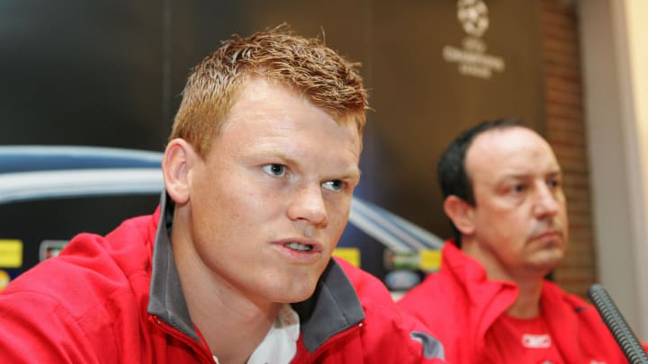 Liverpool' player John Arne Riise speaks