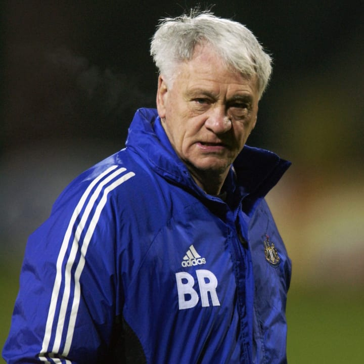 Le manager de Newcastle United, Sir Bobby Robson